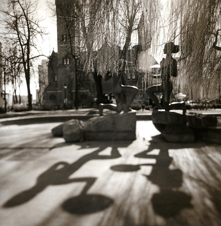 Сквер Эдварда Войниловича, фонтан Юность, Минск, 2019
