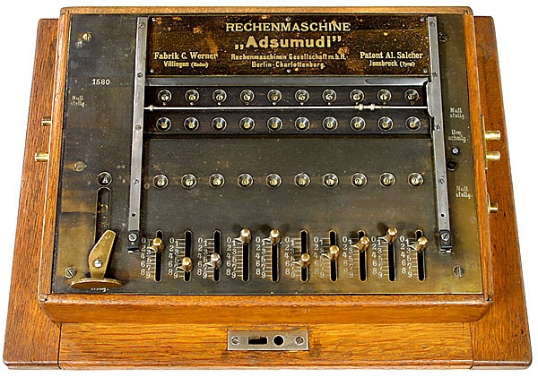Adsumudi, 1907-Calculator-Rechenmaschine