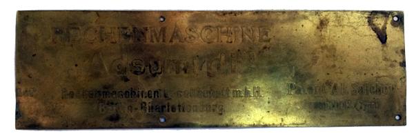 Табличка с предполагаемым именем камеры